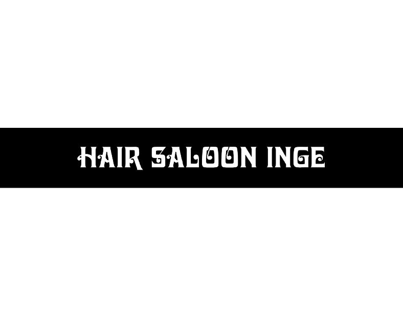 Logo Hair saloon Inge